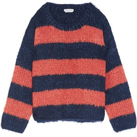 Chloé - Oversized striped mohair, wool and cashmere-blend sweater