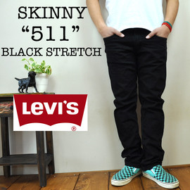 リーバイス - LEVI'S 511SKINNY JEANS BLACK STRETCH