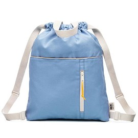 Mamoo Kids - Organic Sky Blue Canvas Drawstring Backpack
