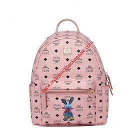 MCM - MCM Small Stark Rabbit Backpack In Light Pink