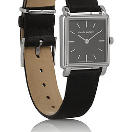 Isabel Marant - Stainless steel and leather watch