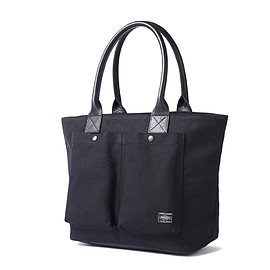 "HEAD PORTER - ""NATAL"" TOTE BAG (MS) BLACK"
