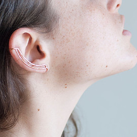 etsy - Rose Gold Delicate Ear Cuff.