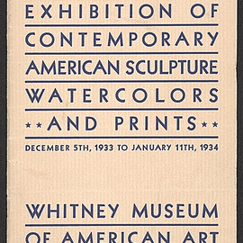 Whitney Museum of American Art - Exhibition catalog for the First Biennial exhibition