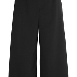 REDValentino - Cropped scalloped stretch-piqué wide-leg pants
