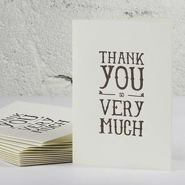 OBLATION PAPERS & PRESS - Thank You Letterpress Cards 6-Pack