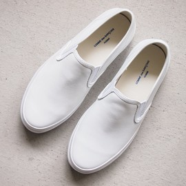 COMME des GARCONS HOMME - Steer Smooth Leather Slip-on #white