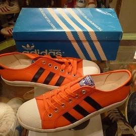 "adidas - 「<deadstock>70's adidas Adria orange/black""made in TAIWAN"" W/BOX size:25.5cm 8500yen」販売中"