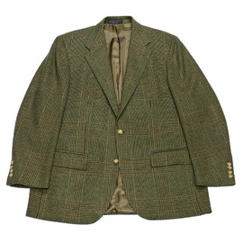 POLO RALPH LAUREN - Vintage Polo by Ralph Lauren Wool / Cashmere Sport Coat Made in Italy Mens Size 44R