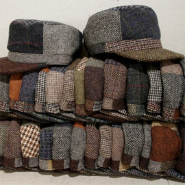 C-PLUS HEAD WEAR - Harris Tweed Remake Cap
