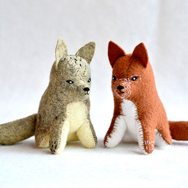 MountRoyalMint - little red fox - soft sculpture animal