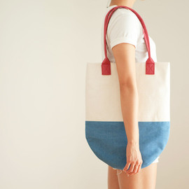 themadeandfound - Rocket Pop Semi-Circle Color Block Beach Tote