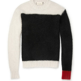 Marni -  Panelled Mohair-Blend Sweater