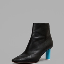 Vetements - Black Ankle Boots With Blue Heel