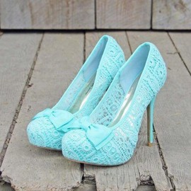 lace high heel