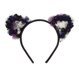 MAISON MICHEL - 'HEIDI' LACE CAT-EAR HEADBAND