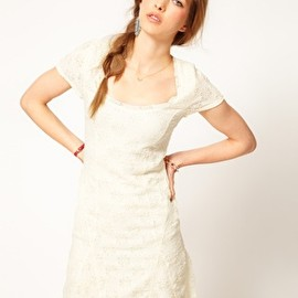 Free People - Image 1 of Free People Daisy Lace Skater Dress