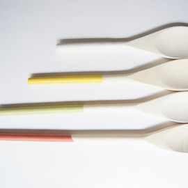 Wind & Willow - Wooden Spoons Set of 4: Citrus Colors