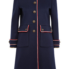 GUCCI - Embellished metallic-trimmed wool-felt coat