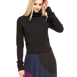 DKNY - Cropped Ribbed Pullover