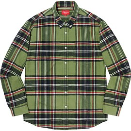 Supreme - Tartan Flannel Shirt Green