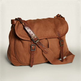 RRL - RRL Manx Canvas Messenger in Brown for Men (Red)
