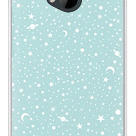 SECOND SKIN - SPACE エメラルド (ソフトTPUクリア) / for HTC J One HTL22/au