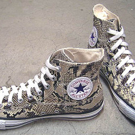 CONVERSE - CONVERSE 100周年 ALL STAR NATURAL-PYTHON HI ヘビ本革