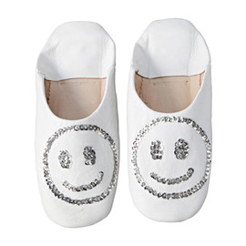 IDEE - Smile Babushoes White ルームシューズ