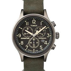 TIMEX - Expedition® Scout™ Chronograph w/ Olive Leather Belt