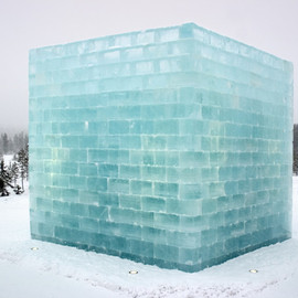Yoko Ono & Arata Isozaki - Penal Colony, 2004, ice and snow