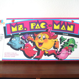Milton Bradley - Vintage Ms Pac Man Board Game, New Old Stock 1982 Milton Bradley MB Mrs PacMan NOS