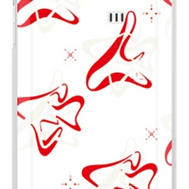 SECOND SKIN - MHAK 「SPACER」 ホワイト×レッド (クリア) / for AQUOS PHONE SERIE ISW16SH/au