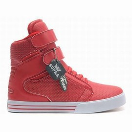 red white supra tk perf red lady size society high tops