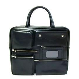 COMME des GARÇONS - black multifunctional pocket leather Boston bag