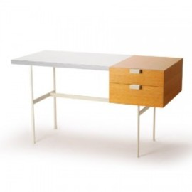METROCS - F031 Desk (Petit Desk) oak/white