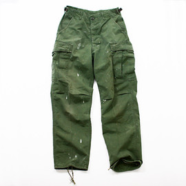 U.S. ARMY - jungle fatigue pants(poplin, OG)
