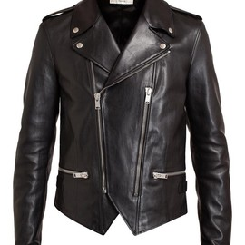 SAINT LAURENT - Classic Leather Biker Jacket