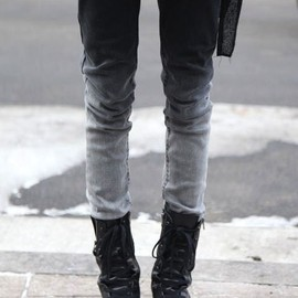 Ombre - Ombre skinny jeans.