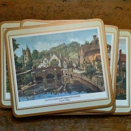 Luulla - Vintage English 6 Scenery Place Mats