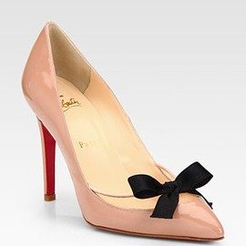 Christian Louboutin - Patent Leather Bow Pumps