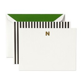 kate spade NEW YORK - monogram note card n