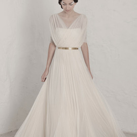Cortana - fortunata draped wedding dress