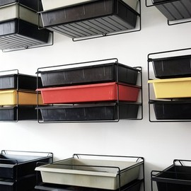 Charlotte Perriand - Racks with 3 plastic drawers