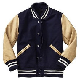 GAP - Stripe letterman jacket