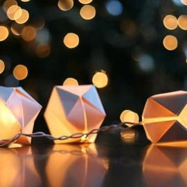 DIY: Paper Cube String Lights