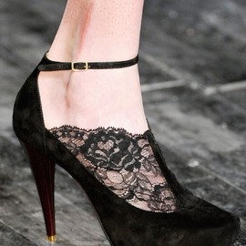 Nina Ricci - Nina Ricci, black lace shoes
