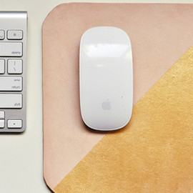 Leather Mouse Pad in Neon Yellow