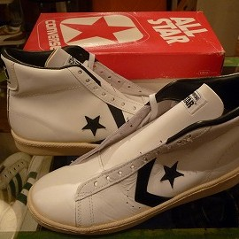 "converse - 「<deadstock>80's converse ALLSTAR BASKETBALL MEN'S PRO HI white/black""made in USA"" W/BOX size:US10 29800yen」完売"
