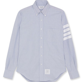Thom Browne - Blue Oxford shirt with stripes